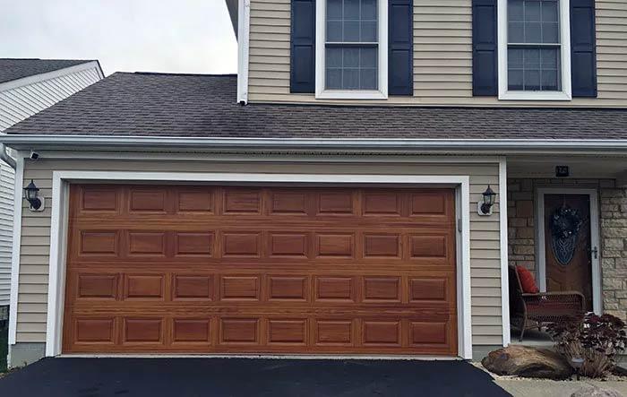 Custom Faux Wood Garage Door